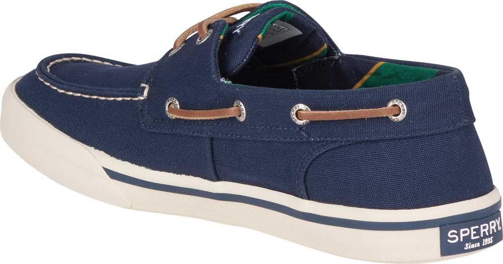 Men's Sperry Top-Sider Bahama II Varsity Boat Sneaker, Navy Textile, large, image 4