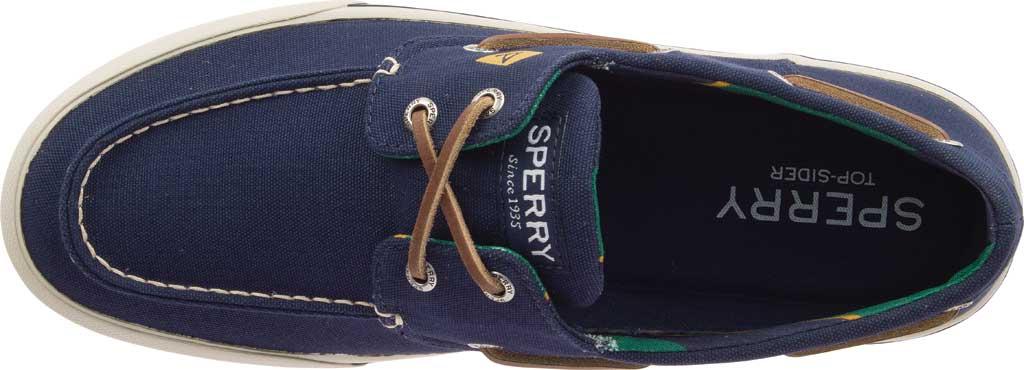 Men's Sperry Top-Sider Bahama II Varsity Boat Sneaker, Navy Textile, large, image 5
