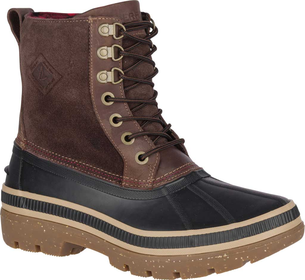 Men's Sperry Top-Sider Ice Bay Duck Boot, Black/Brown Rubber, large, image 1