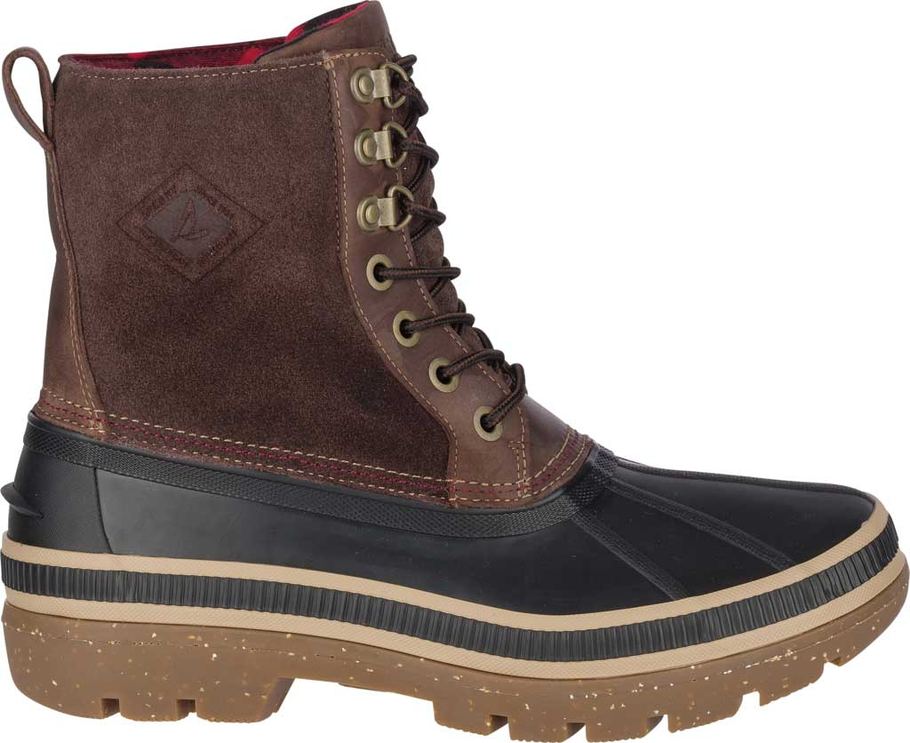 Men's Sperry Top-Sider Ice Bay Duck Boot, Black/Brown Rubber, large, image 2