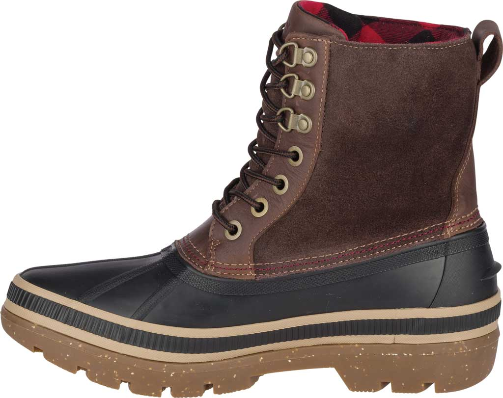 Men's Sperry Top-Sider Ice Bay Duck Boot, Black/Brown Rubber, large, image 3
