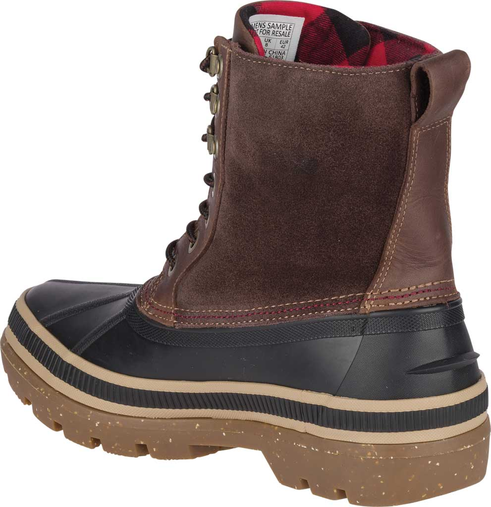 Men's Sperry Top-Sider Ice Bay Duck Boot, Black/Brown Rubber, large, image 4