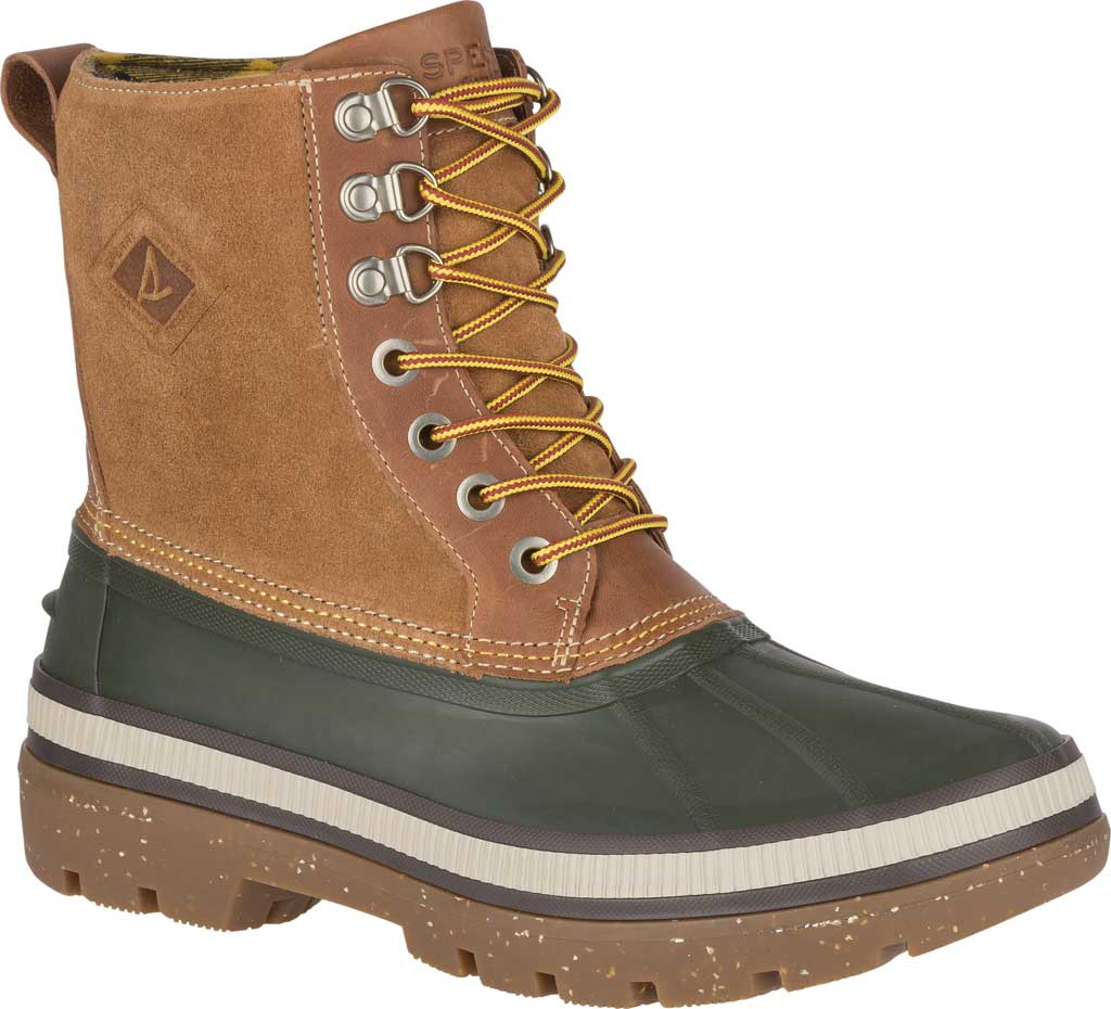 Men's Sperry Top-Sider Ice Bay Duck Boot, Olive/Tan Rubber, large, image 1