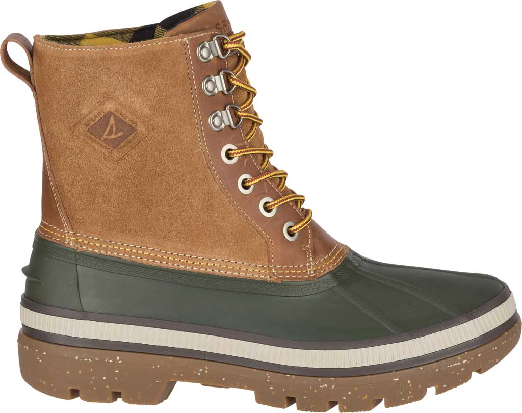 Men's Sperry Top-Sider Ice Bay Duck Boot, Olive/Tan Rubber, large, image 2