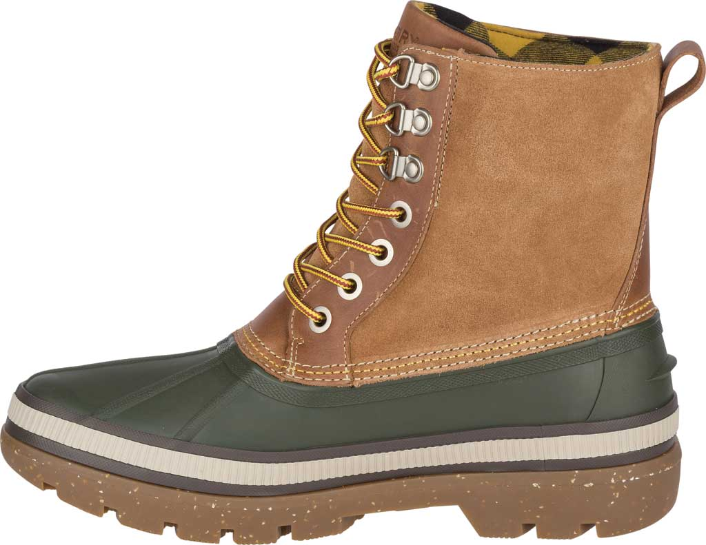 Men's Sperry Top-Sider Ice Bay Duck Boot, Olive/Tan Rubber, large, image 3