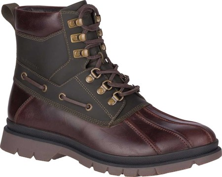 Men's Sperry Top-Sider Watertown Duck Boot, Tan/Olive Leather, large, image 1