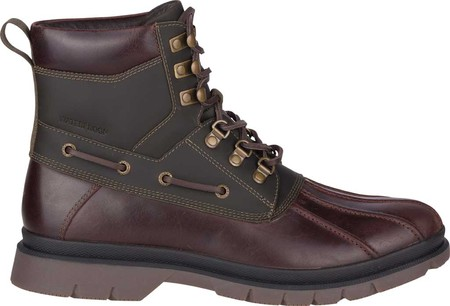 Men's Sperry Top-Sider Watertown Duck Boot, Tan/Olive Leather, large, image 2