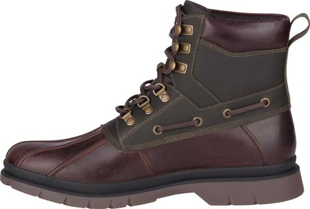 Men's Sperry Top-Sider Watertown Duck Boot, Tan/Olive Leather, large, image 3