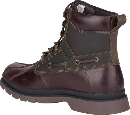 Men's Sperry Top-Sider Watertown Duck Boot, Tan/Olive Leather, large, image 4