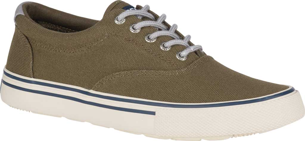 Men's Sperry Top-Sider Striper II Storm CVO Duck Canvas Sneaker, Olive Textile, large, image 1