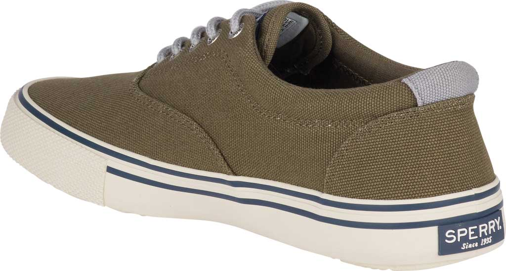 Men's Sperry Top-Sider Striper II Storm CVO Duck Canvas Sneaker, Olive Textile, large, image 4