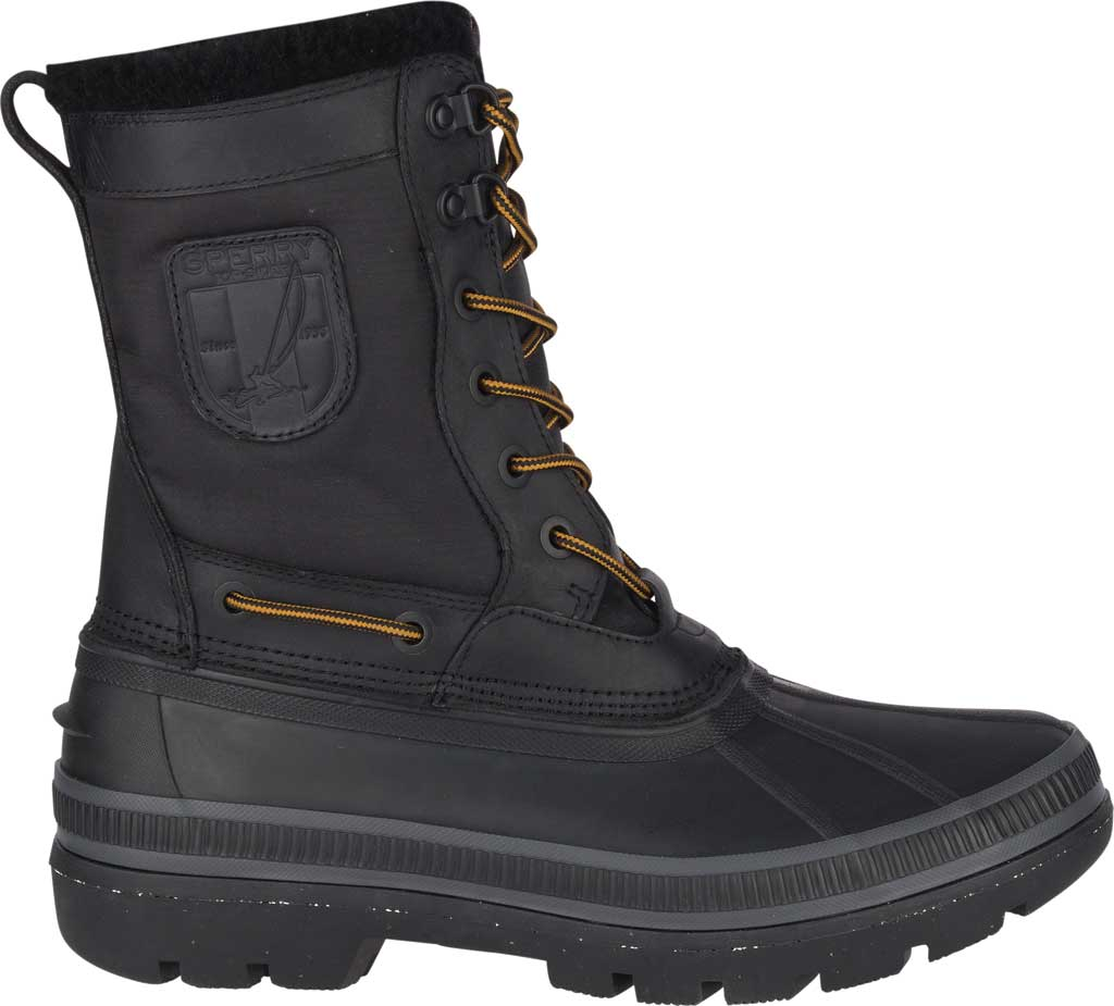 Men's Sperry Top-Sider Ice Bay Tall Duck Boot, Black Rubber, large, image 2