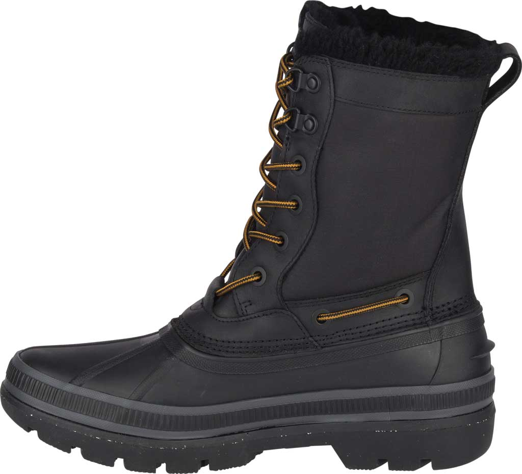 Men's Sperry Top-Sider Ice Bay Tall Duck Boot, Black Rubber, large, image 3