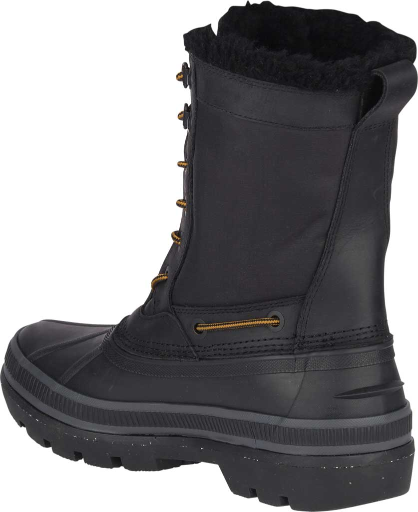 Men's Sperry Top-Sider Ice Bay Tall Duck Boot, Black Rubber, large, image 4