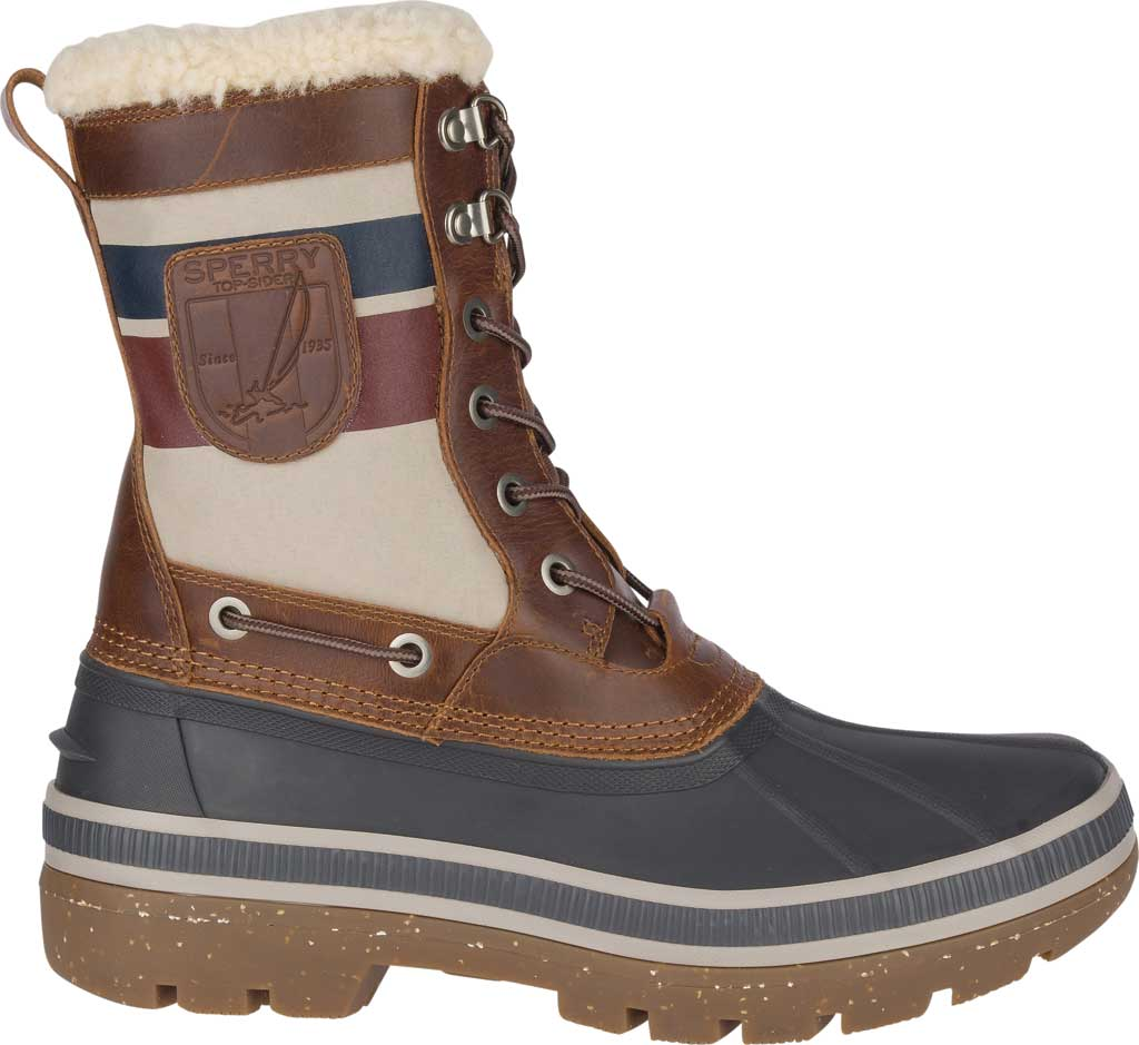 Men's Sperry Top-Sider Ice Bay Tall Duck Boot, Brown/Nautical Rubber, large, image 2