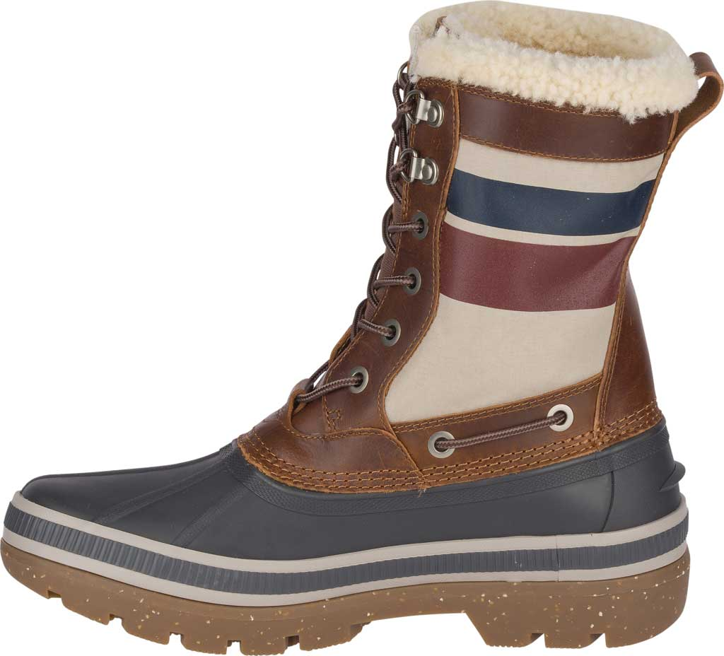 Men's Sperry Top-Sider Ice Bay Tall Duck Boot, Brown/Nautical Rubber, large, image 3