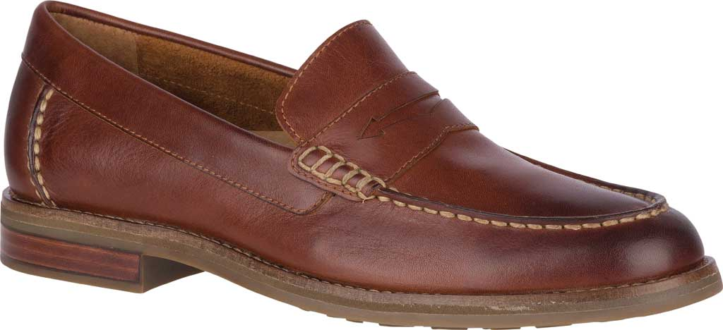 Men's Sperry Top-Sider Topsfield Penny Loafer, Tan Leather, large, image 1