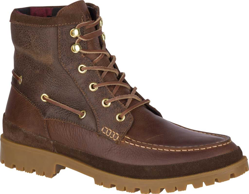 Men's Sperry Top-Sider Authentic Original Lug Boot, Brown Leather, large, image 1