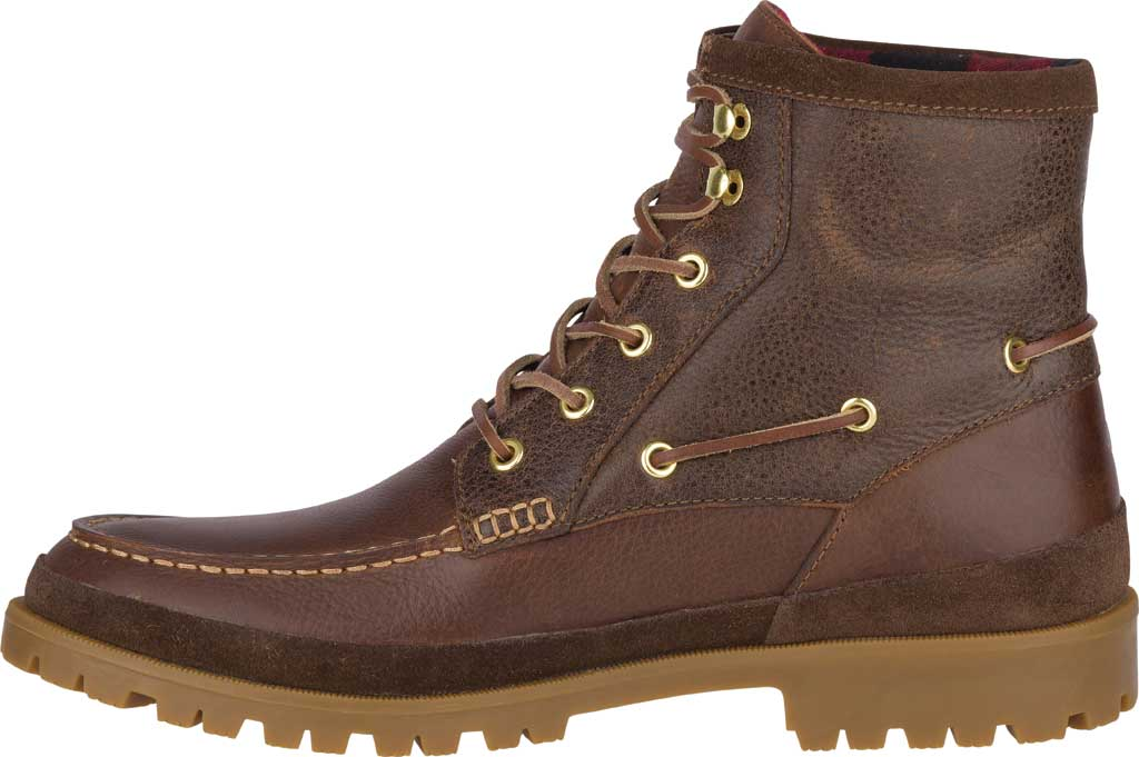 Men's Sperry Top-Sider Authentic Original Lug Boot, Brown Leather, large, image 3