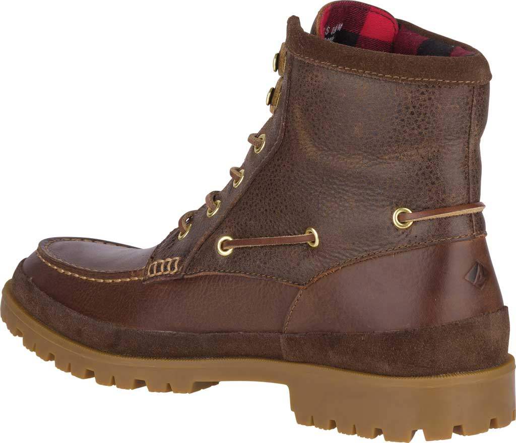 Men's Sperry Top-Sider Authentic Original Lug Boot, Brown Leather, large, image 4