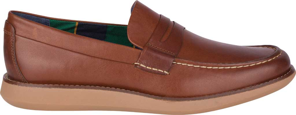 Men's Sperry Top-Sider Kennedy Varsity Penny Loafer, Rustic Tan Leather, large, image 2
