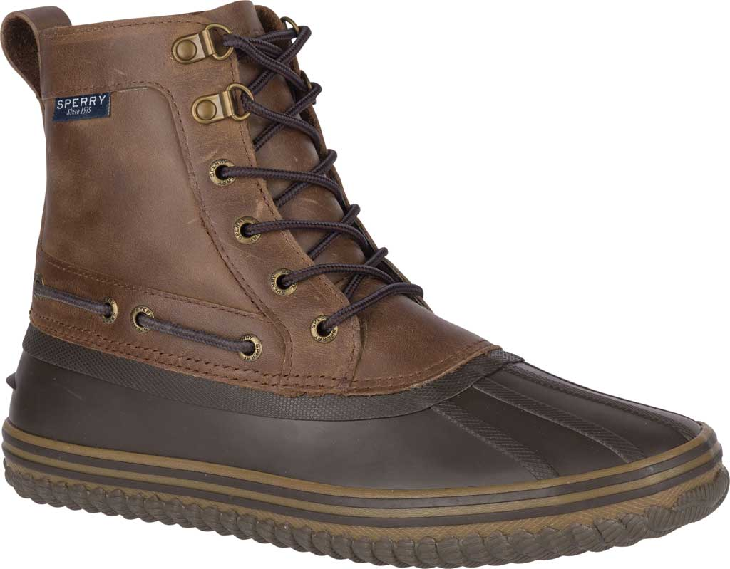 Men's Sperry Top-Sider Huntington Duck Boot, Brown/Dark Brown Rubber, large, image 1