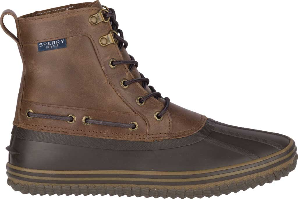 Men's Sperry Top-Sider Huntington Duck Boot, Brown/Dark Brown Rubber, large, image 2