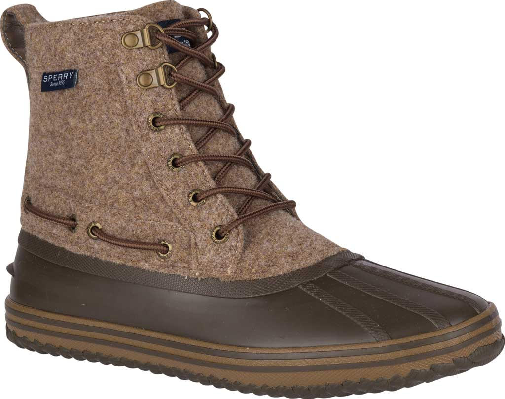 Men's Sperry Top-Sider Huntington Duck Boot, Brown Wool/Rubber, large, image 1