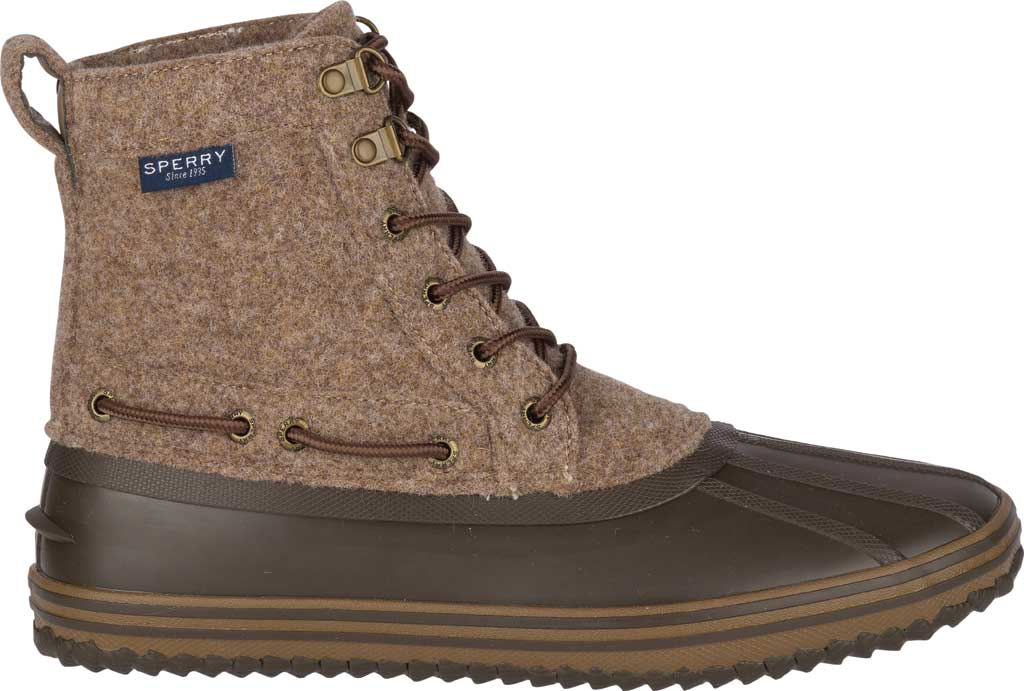Men's Sperry Top-Sider Huntington Duck Boot, Brown Wool/Rubber, large, image 2
