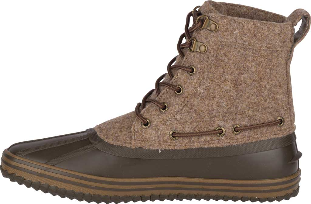 Men's Sperry Top-Sider Huntington Duck Boot, Brown Wool/Rubber, large, image 3