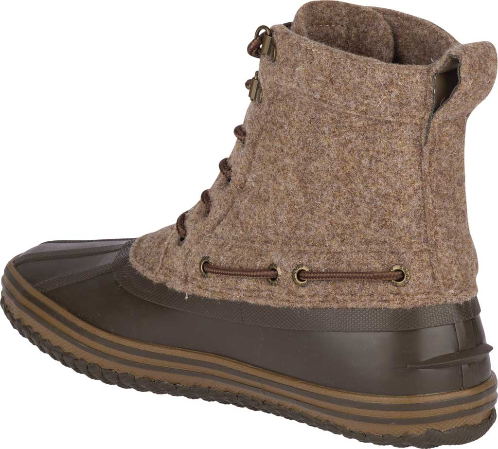 Men's Sperry Top-Sider Huntington Duck Boot, Brown Wool/Rubber, large, image 4