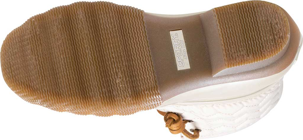 Girls' Sperry Top-Sider Saltwater Lace Up Duck Boot, Pearlized Ivory Textile, large, image 5