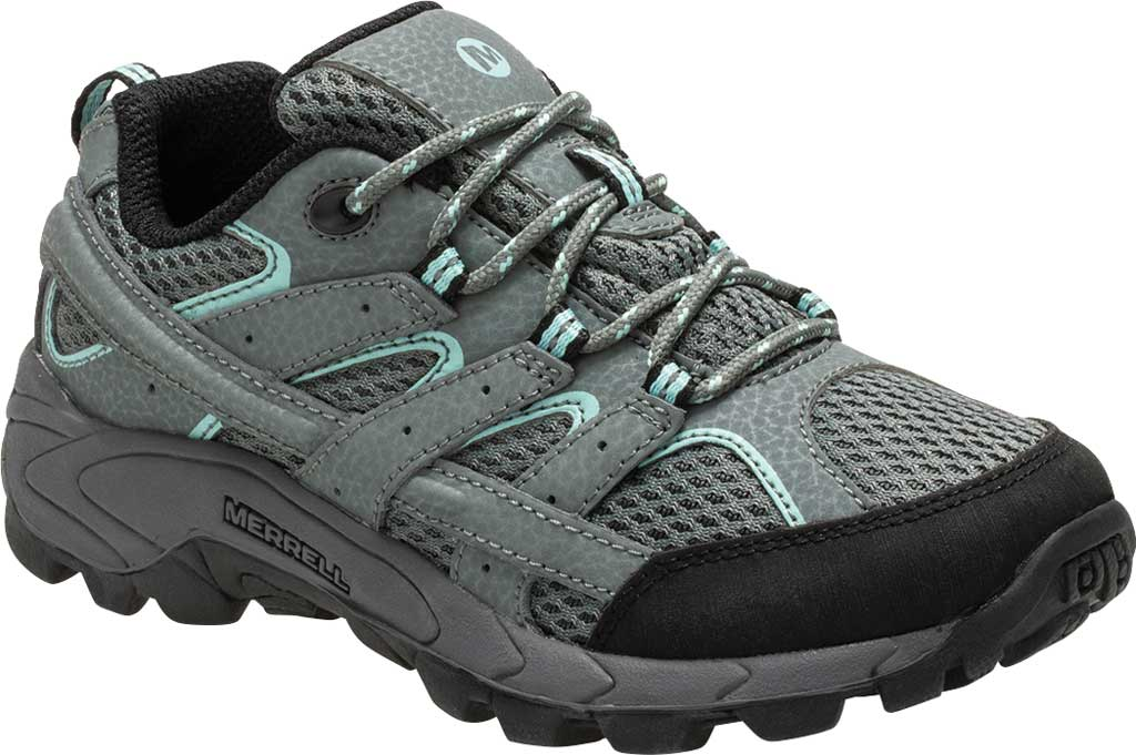 Girls' Merrell Moab 2 Low Lace Hiking Shoe - Big Kid, Sedona Sage Suede/Mesh, large, image 1