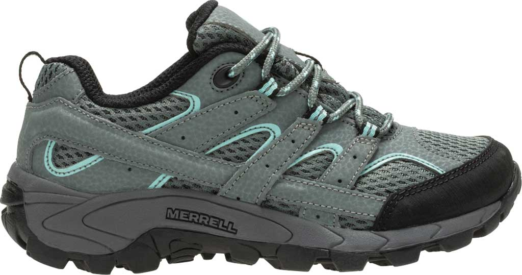 Girls' Merrell Moab 2 Low Lace Hiking Shoe - Big Kid, Sedona Sage Suede/Mesh, large, image 2