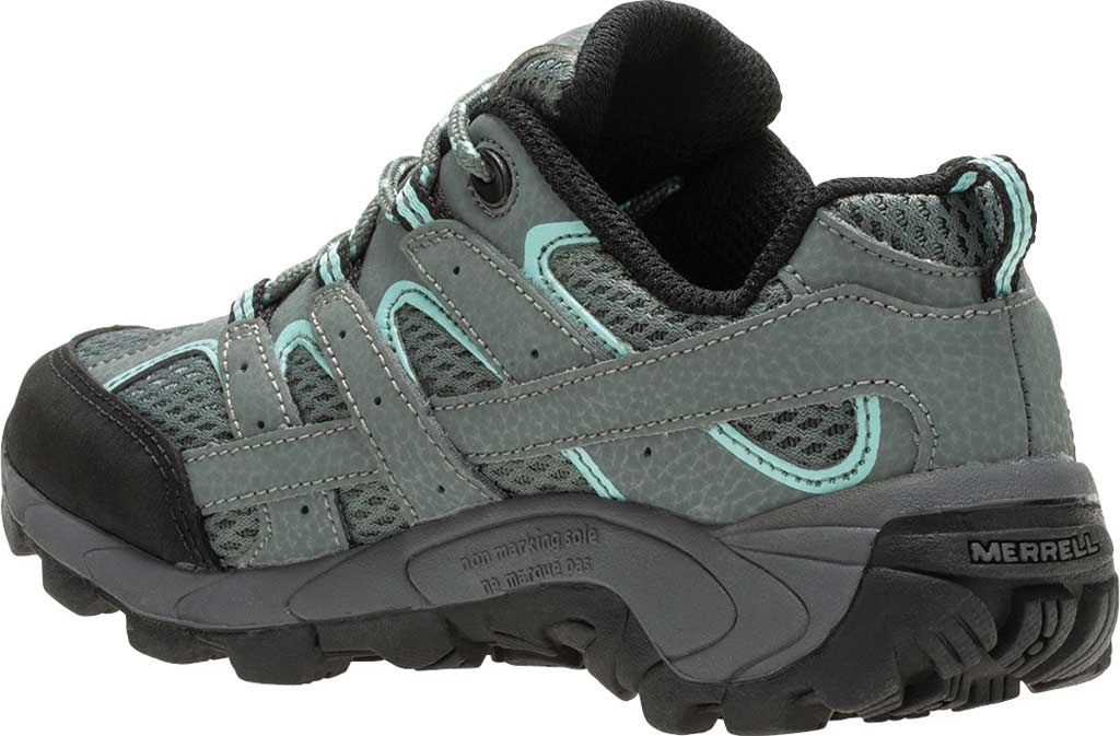 Girls' Merrell Moab 2 Low Lace Hiking Shoe - Big Kid, Sedona Sage Suede/Mesh, large, image 3