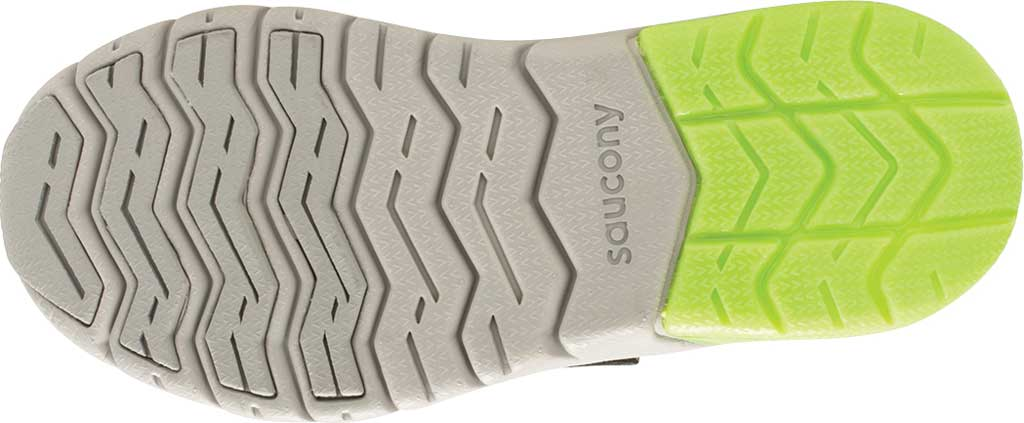 Boys' Saucony Flash Glow AC Sneaker, Black/Green Textile/Mesh, large, image 5