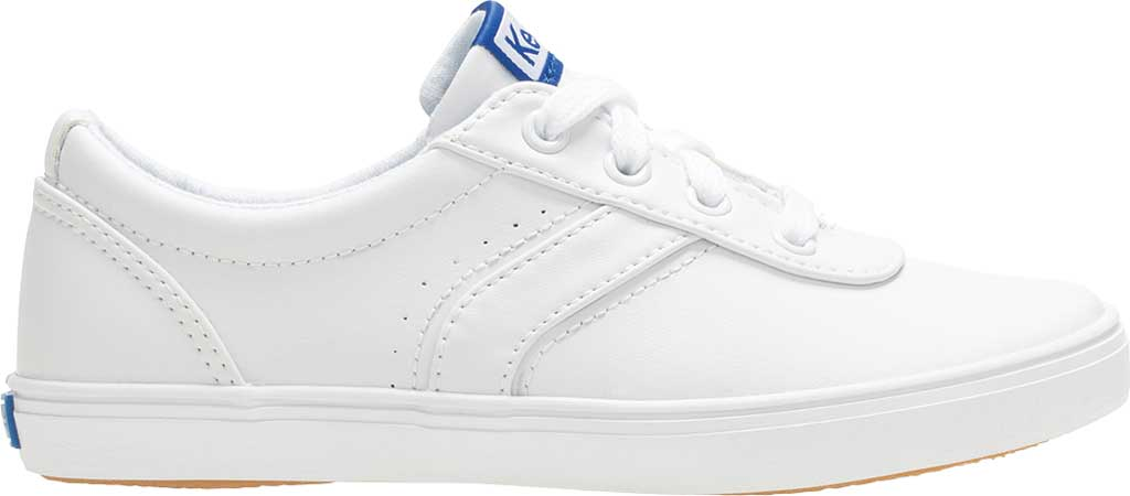 Girls' Keds Riley Sneaker, White Leather, large, image 2