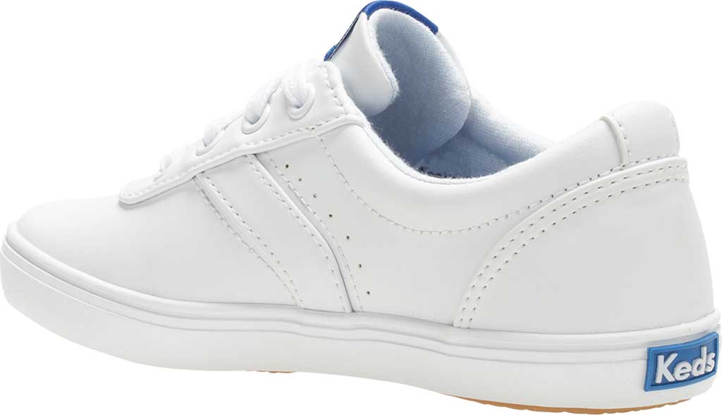 Girls' Keds Riley Sneaker, White Leather, large, image 3