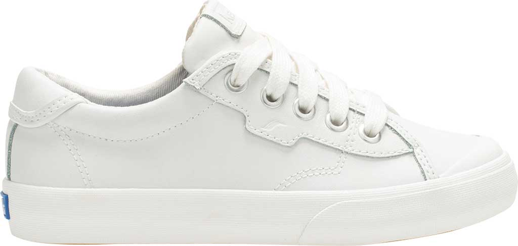 Girls' Keds Crew Kick 75 Sneaker, White Leather, large, image 2