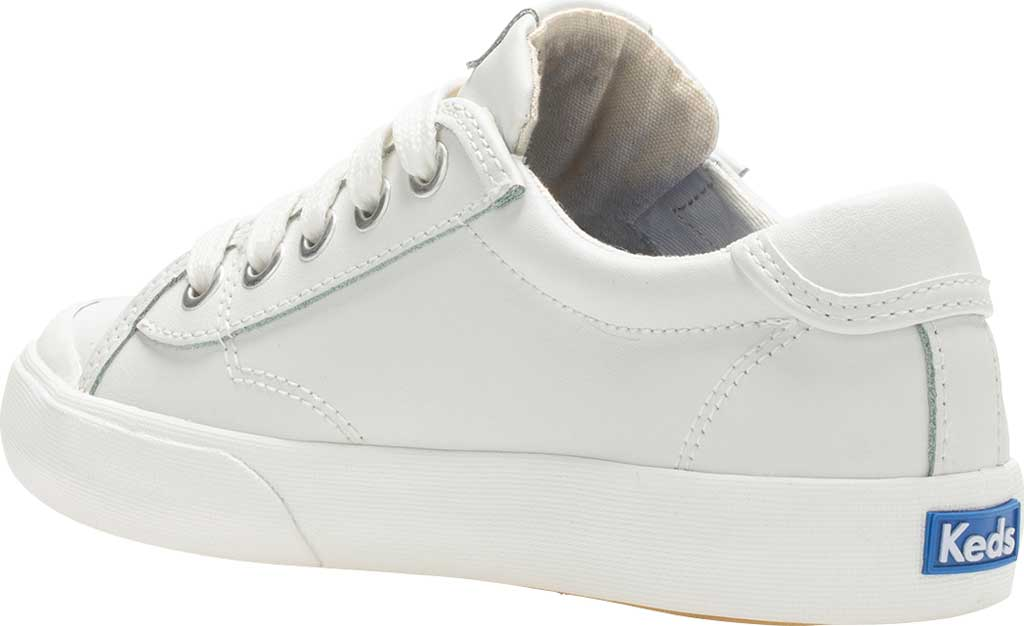 Girls' Keds Crew Kick 75 Sneaker, White Leather, large, image 3