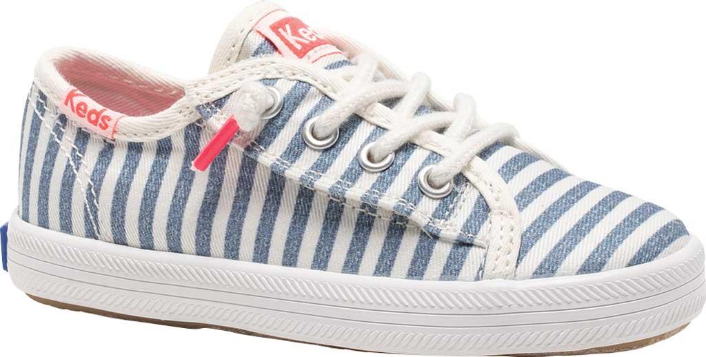 Infant Girls' Keds Kickstart Seasonal Jr Sneaker, Stripe Organic Cotton, large, image 1