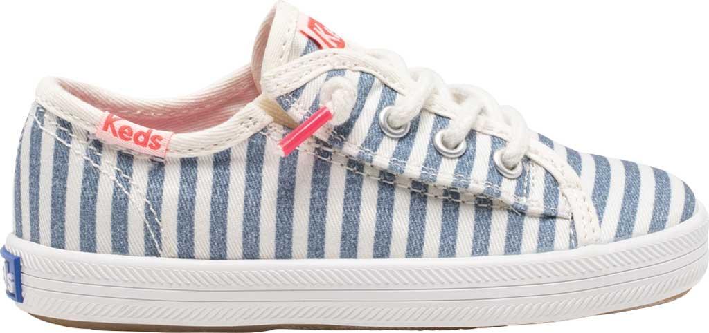 Infant Girls' Keds Kickstart Seasonal Jr Sneaker, Stripe Organic Cotton, large, image 2