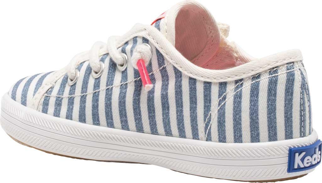 Infant Girls' Keds Kickstart Seasonal Jr Sneaker, Stripe Organic Cotton, large, image 3