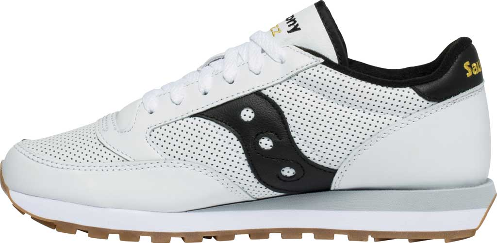 Men/'s Saucony Originals Jazz Sneaker White//Black Leather