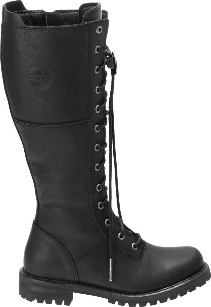 Women's Harley-Davidson Walfield Tall Motorcycle Boot, Black Full Grain Leather, large, image 2