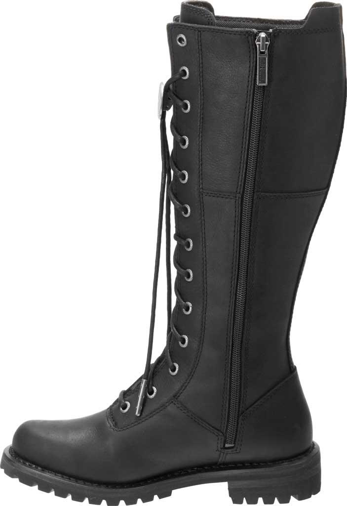 Women's Harley-Davidson Walfield Tall Motorcycle Boot, Black Full Grain Leather, large, image 3