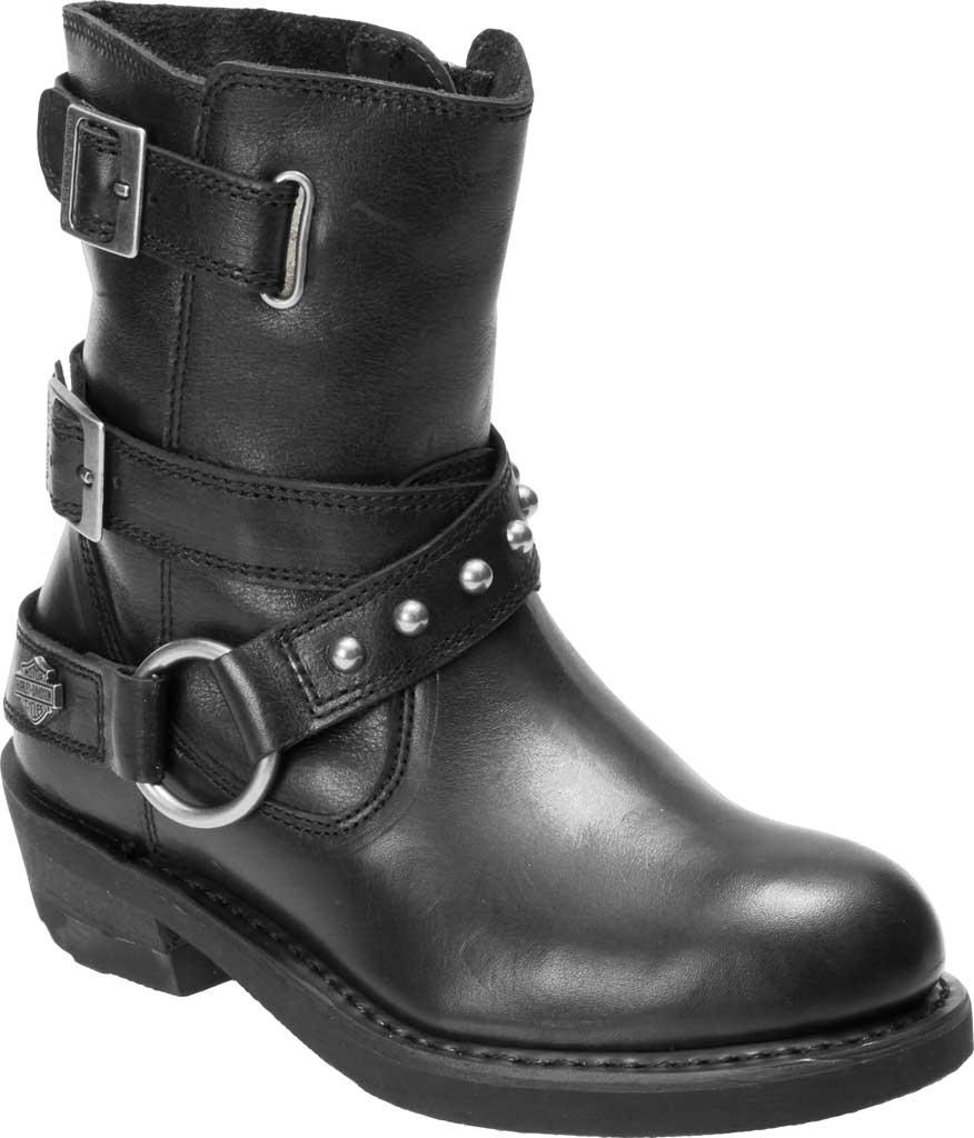Women's Harley-Davidson Janice Motorcycle Boot, Black Full Grain Leather, large, image 1