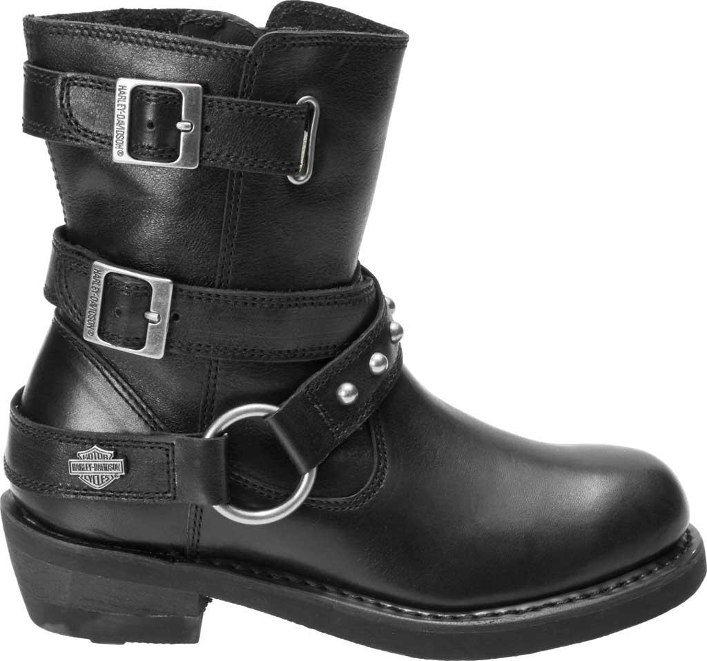 Women's Harley-Davidson Janice Motorcycle Boot, Black Full Grain Leather, large, image 2