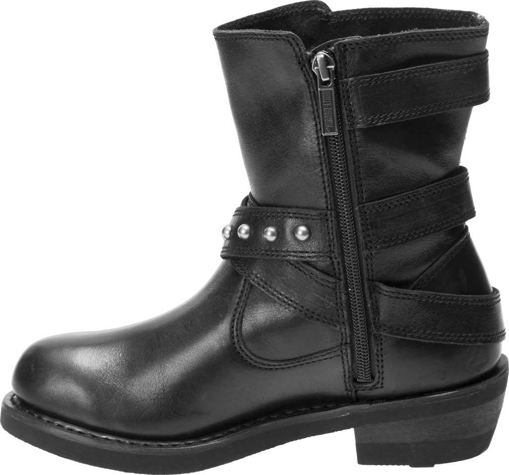 Women's Harley-Davidson Janice Motorcycle Boot, Black Full Grain Leather, large, image 3