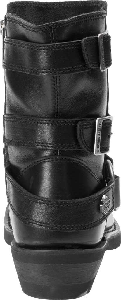 Women's Harley-Davidson Janice Motorcycle Boot, Black Full Grain Leather, large, image 4